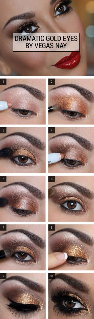 Dramatic eye makeup for your eyes.